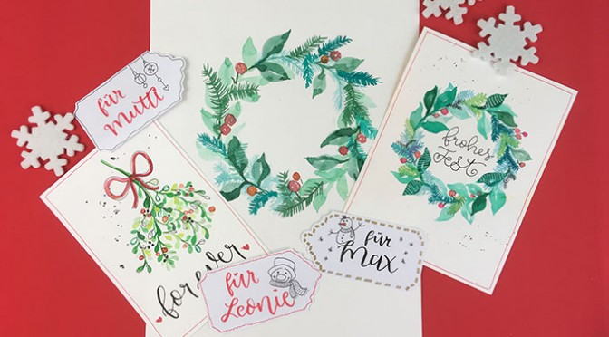 x-mas edition Handlettering in Lippstadt