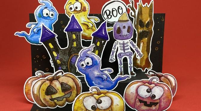 Herbstferienworkshop: Halloween-Pop-Up-Karte
